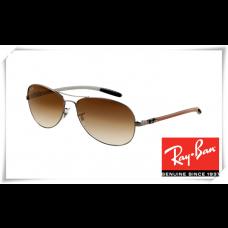 Ray Ban RB8301 Tech Sunglasses Gunmetal Frame Brown Gradient Lens