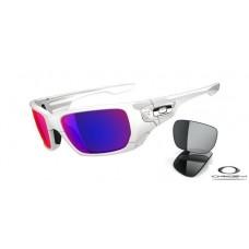 Oakley Style Switch Sunglasses White Frame Purple Lens