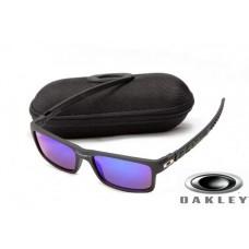 fake oakley currency sunglasses Jet Black Frame Deep Blue Lens OAKLEY201567325