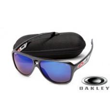 fake oakley dispatch II sunglasses Polishing Black Frame Blue Lens OAKLEY201567295
