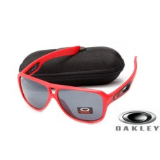 fake oakley dispatch II sunglasses Red Frame Gray Lens OAKLEY201567299