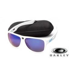 fake oakley dispatch II sunglasses White Frame Blue Lens OAKLEY201567301