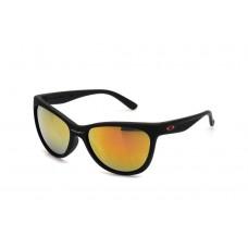 Oakley Forehand Women's Sunglasses Matte Black Frame Fire Yellow iridium Lens
