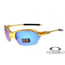 Oakley Half X Sunglasses Golden Frame Blue Iridium Lens OAKLEY20156066