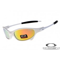 Oakley Juliet Sunglasses White Frame Fire Yellow Iridium Lens OAKLEY20156070