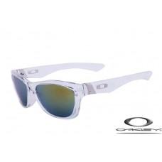 Oakley Jupiter Sunglasses Transparent Frame Gray Yellow Iridium Lens OAKLEY20156071