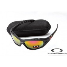 Oakley Water Jacket Sunglasses Frosting Black Frame Fire Yellow Iridium Lens OAKLEY20156108
