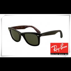 Ray Ban RB2140 Original Wayfarer Sunglasses Black Frame Deep Green Lens