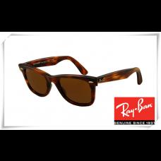 Ray Ban RB2140 Original Wayfarer Sunglasses Tortoise Frame Deep Brown Lens