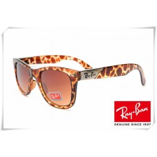Ray Ban RB2157K Ultra Wayfarer Sunglasses Leopard Frame Light Brown Gradient Lens