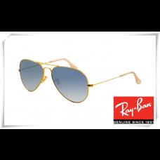 Ray Ban RB3025 Aviator Sunglasses Arista Frame Blue Gradient Lens