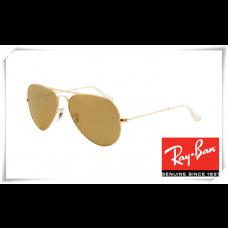 Ray Ban RB3025 Aviator Sunglasses Arista Frame Brown Silver Mirror Gradient Lens