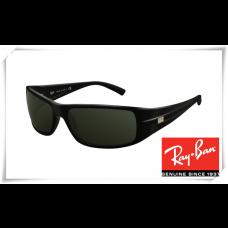 Ray Ban RB4057 Sunglasses Black Frame Deep Green Lens