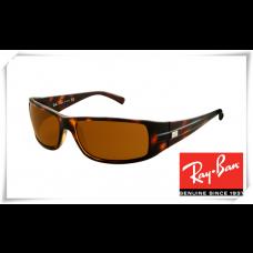 Ray Ban RB4057 Sunglasses Tortoise Frame Brown Lens