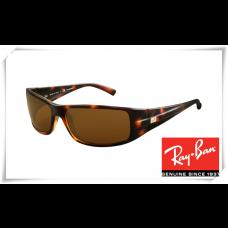 Ray Ban RB4057 Sunglasses Tortoise Frame Deep Brown Lens