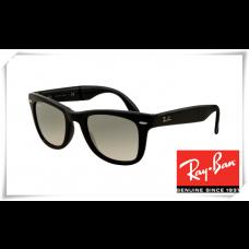 Ray Ban RB4105 Folding Wayfarer Sunglasses Black Frame Grey Gradient Lens