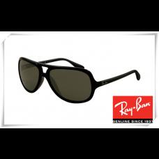 Ray Ban RB4162 Sunglasses Black Frame Green Lens