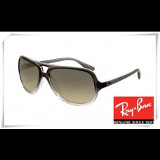 Ray Ban RB4162 Sunglasses Black Gradient Frame Gray Lens