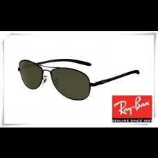 Ray Ban RB8301 Tech Sunglasses Black Frame Green Lens
