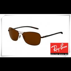 Ray Ban RB8302 Tech Sunglasses Brown Frame Brown Lens