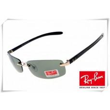 Ray Ban RB8304 Tech Sunglasses Black Frame Classic Green Lens