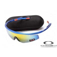 Oakley M Frame Sunglasses Polishing Blue Frame Yellow Iridium Lens OAKLEY20156268