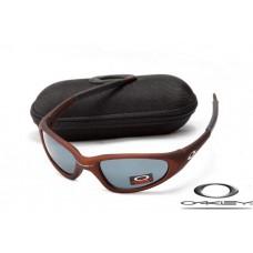 Oakley Minute Sunglasses Brown Frame Gray Iridium Lens OAKLEY20156279