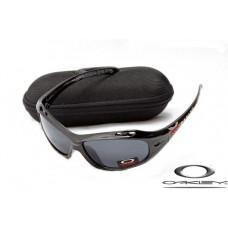 Oakleys Water Jacket Sunglasses Polishing Black Frame Gray Iridium Lens OAKLEY20156283