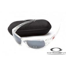 Oakley XS Fives Sunglasses Transparent Frame Gray Iridium Lens OAKLEY20156284