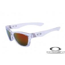 Oakley Jupiter Sunglasses Transparent Frame Fire Yellow Lens OAKLEY20156401