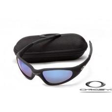 Oakley Minute Sunglasses Matte Black Frame Blue Lens OAKLEY20156493