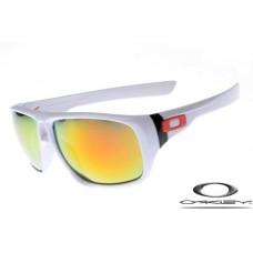 Oakley Dispatch Sunglasses Polishing White Frame Fire Yellow Iridium Lens OAKLEY20156307
