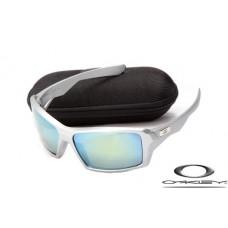Oakley Eyepatch Sunglasses Silver Frame Blue Iridium Lens OAKLEY20156309
