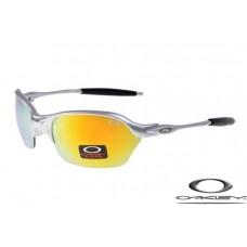 Oakley Half X Sunglasses Silver Frame Yellow Iridium Lens OAKLEY20156298