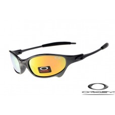 Oakley Juliet Sunglasses Polishing Black Frame Fire Yellow Iridium Lens OAKLEY20156320