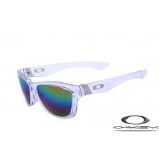 Oakley Jupiter Sunglasses Transparent Frame Blue Iridium Lens OAKLEY20156314