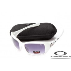 Oakley Necessity Sunglasses Polishing White Frame Purple Iridium Lens OAKLEY20156345