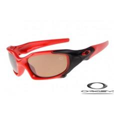 Oakley Pit Boss Sunglasses Polishing Red Black Frame Brown Iridium Lens OAKLEY20156323