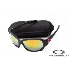 Oakley Script Sunglasses Matte Black Frame Yellow Iridium Lens OAKLEY20156346