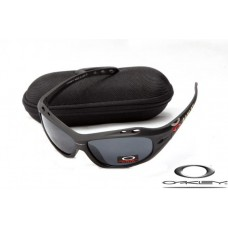 Oakley Water Jacket Sunglasses Matte Black Frame Gray Iridium Lens OAKLEY20156337