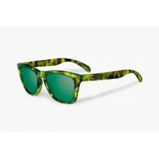Knock Off Oakleys frogskins Camo Frame Green Lens O8004