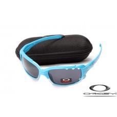 Knock off Oakley Jawbone Sunglasses Blue Frame Gray Lens