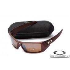 Oakley Gascan Sunglasses Frosting Brown Frame Brown Iridium Lens OAKLEY20156129