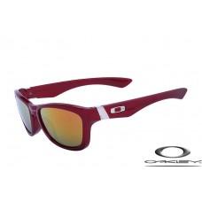 Oakley Jupiter Sunglasses Polishing Black Red Frame Fire Yellow Iridium Lens OAKLEY20156130