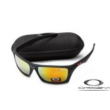 Oakley Jury Sunglasses Frosting Black Frame Fire Yellow Iridium Lens OAKLEY20156142
