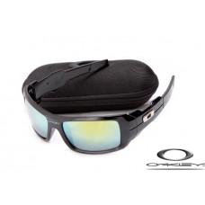 Oakley Oil Drum Sunglasses Polishing Black Frame Gray Blue Iridium Lens OAKLEY20156136