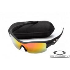 Oakley Straight Jacket Sunglasses Frosting Black Frame Fire Yellow Iridium Lens OAKLEY20156163