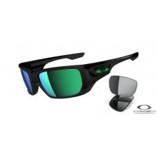 Oakley Style Switch Sunglasses Black Frame Green Lens