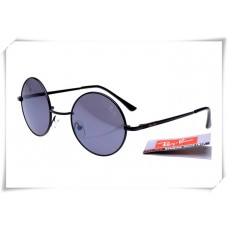 Ray Bans Round Metal RB3447 Sunglasses Black Frame Grey Lens