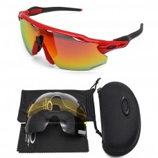 Oakley 2.0 radar ev sunglasses red frame